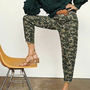 NWT Anthropologie Amadi Floral Camo Trousers Sz M